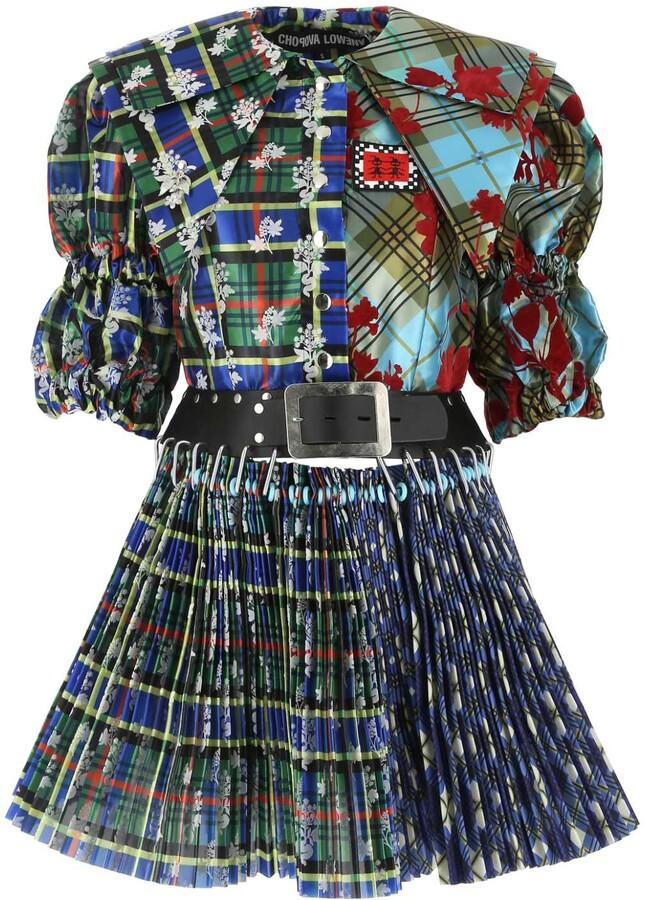 Chopova Lowena Pleated Mini Dress