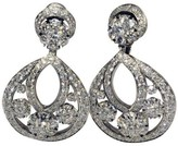 Van Cleef & Arpels Platinum Diamond Snowflake Earrings