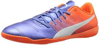Puma Men's Evopower 4.3 IT Soccer Shoe Blue Yonder White-Shocking Orange
