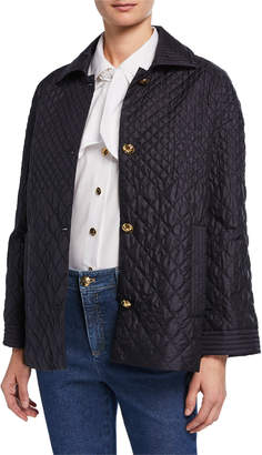 Escada Lightweight Degrade Quilted Topper Jacket