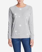 Eddie Bauer Women's Legend Wash Americana Stars Sweatshirt
