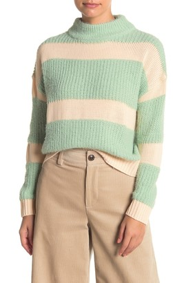 Absolutely Cotton Raised Stripe Sweater