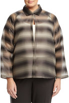 Lafayette 148 New York Zineb Sheer Striped Topper Jacket, Ash Multi, Women's