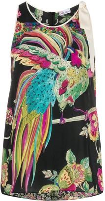RED Valentino Bird Print Top