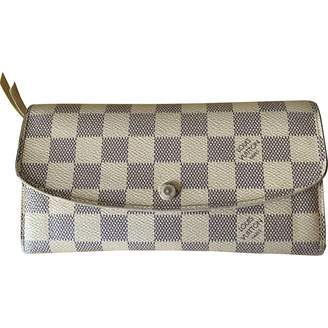 Louis Vuitton Emilie Beige Cloth Wallets