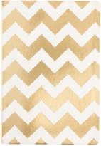 Eccolo Flexi Metallic Gold Chevron Journal
