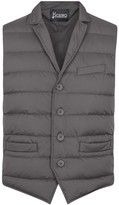 Herno Grey Quilted Shell Gilet