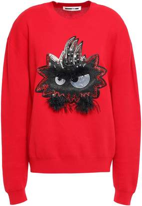 McQ Embellished Cotton Sweater