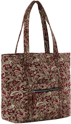 Mkf Collection By Mia K. MKF Collection by Mia K. Women's Totebags Burgundy/Persimmon - Burgundy & Persommon Paisley Quilted Tote