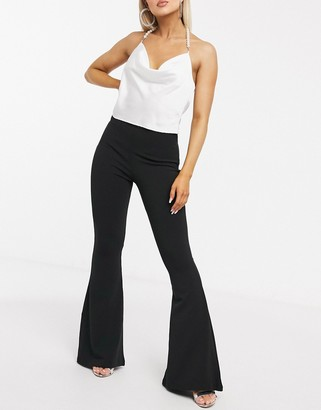 NaaNaa flared fitted trouser in black