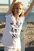 Rebel Yell Say No Classic V Tee in White