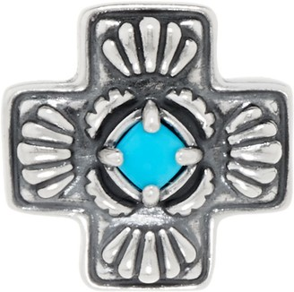 American West Sleeping Beauty Turquoise Sterling Silver Cross Enhancer
