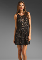 Free People Miles of Lace Tank Dress