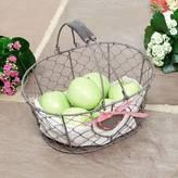 Dibor Heart Chickenwire Storage Basket Trug