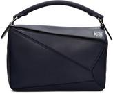Loewe Navy Small Puzzle Bag