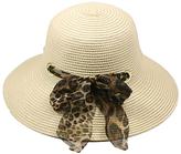 Cream Leopard Scarf Sunhat