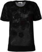 Chloé floral mesh T-shirt