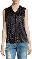 St. John Women's Polka Dot Print Silk-Blend Blouse
