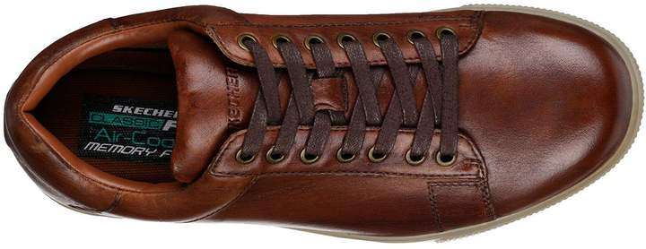 pretty nice c85a5 f61a1 skechers brown leather trainers