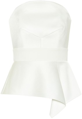 Roland Mouret Penn satin bridal top