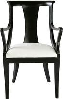 Ave Home Carlyle Armchair, Ebony/Ivory Velvet