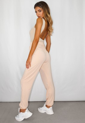 Missguided Tall Beige Lounge Joggers