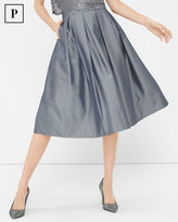 White House Black Market Petite Pleated Taffeta Midi Skirt