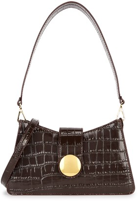 Elleme Baguette crocodile-effect leather cross-body bag