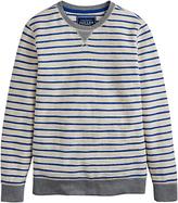 Joules Brancaster Stripe Sweatshirt, French Blue