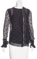 Givenchy Zip-Up Silk Blouse w/ Tags