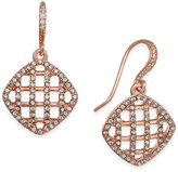 Charter Club Rose Gold-Tone Basket Drop Earrings, Only at Macy's