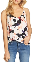 1 STATE 1.state Lattice-Back Floral Print Camisole