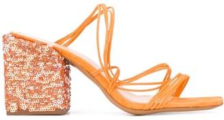 Jacquemus Estello sequinned sandals