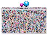 Sophia Webster Clara Rainbow Crystal Box Clutch Bag