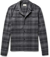 Simon Miller Camp-collar Checked Brushed-cotton Flannel Shirt - Anthracite