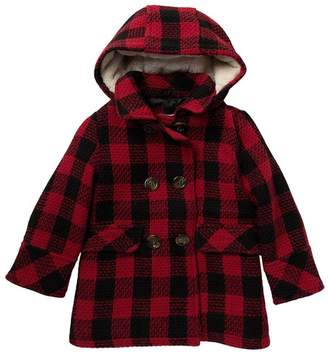 Urban Republic Double Breasted Faux Fur Lined Wool Coat (toddlers & Little Girls)
