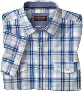 Johnston & Murphy Windowpane Double-Pocket Shirt