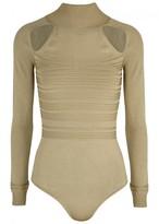 Cushnie et Ochs Fiona Cut-out Stretch-knit Bodysuit