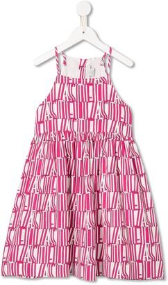 Stella Mccartney Kids Logo Print Cotton Dress