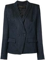 Alexandre Vauthier pinstripe blazer - women - Linen/Flax/Lurex/Viscose - 36