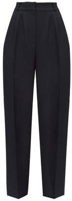 Alexander McQueen High-rise Wool-blend Crepe Trousers - Black