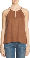 1 STATE 1.STATE Faux Suede Barbell Tank