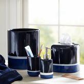 Color Block Trash Can, Navy/Blue