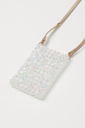 H&M Beaded Shoulder Bag - White