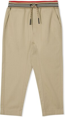 BURBERRY KIDS Striped Waistband Trousers