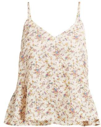 Mes Demoiselles Gaby Floral-print Silk Cami Top - Womens - Beige Multi
