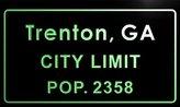AdvPro Name t76356-g Trenton, GA City Limit POP. 2358 Indoor Neon Sign