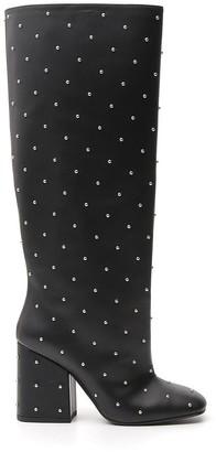 Marni Studded Knee-High Boots