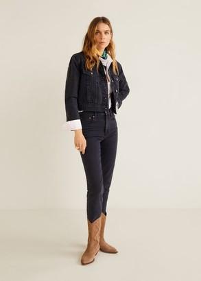 MANGO Pocketed denim jacket dark blue - XS - Women