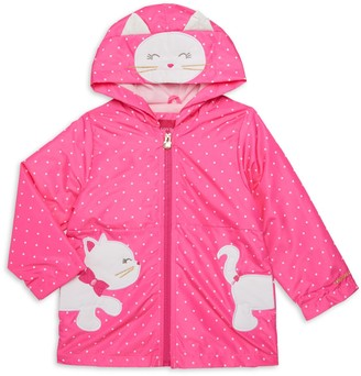London Fog Little Girl's Embroidered Kitty Jacket